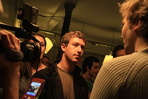 Mark Zuckerberg at the Facebook Developer Gara...