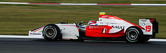 Marko Asmer - Asmer driving for FMS International at the Silverstone round of the 2008 GP2 Series season.