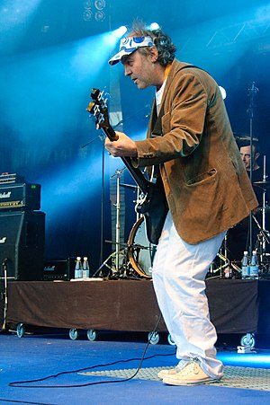 Youth (musician and producer) - Martin Glover performing at the 2009 Ilosaarirock festival.