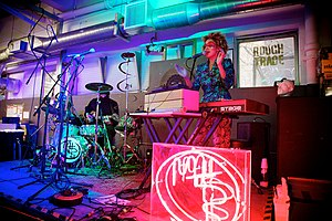 Rough Trade (shops) - Martina Topley-Bird performing at Rough Trade East, Brick Lane, London (photo July 2010)
