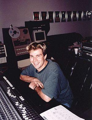 Mass Giorgini - Mass Giorgini at work in his Sonic Iguana Studios in 1996.