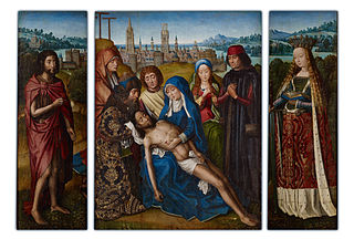 Lamentation with Saint John the Baptist and Saint Catherine of Alexandria