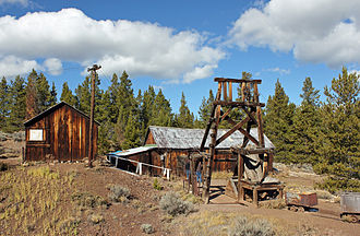 """Colorado Silver Boom - The Matchless Mine in Leadville, originally owned by Horace Tabor, known as """"The Silver King""""."""