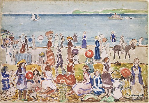 Maurice Prendergast - Revere Beach No. 2 - Google Art Project