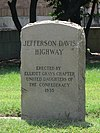 Maury Street Marker, Jefferson Davis Highway