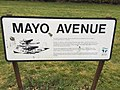 Mayo Avenue sign at Dundee airport, Dundee, Scotland.jpg