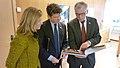 Mayor Petersen presents a gift of wonderful photos of Luleå (5609101667).jpg