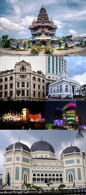 Medan - From top, left to right: