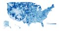 Median Age of the US by County 2010.png