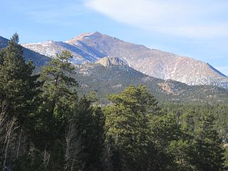 Mount Meeker mountain in United States of America