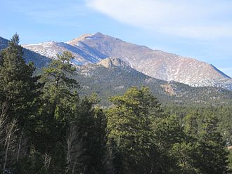 Mount Meeker - Mount Meeker seen from State Highway 7.