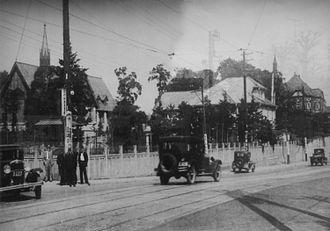 Meiji Gakuin University - In front of the school in 1927