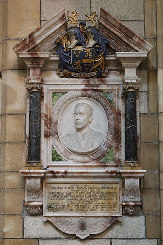 Thomas Agar-Robartes - Memorial in Truro Cathedral
