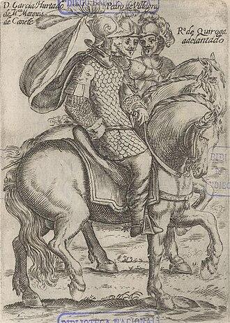 García Hurtado de Mendoza, 5th Marquis of Cañete - Mendoza, Villagra y Quiroga in an illustration by Alonso de Ovalle