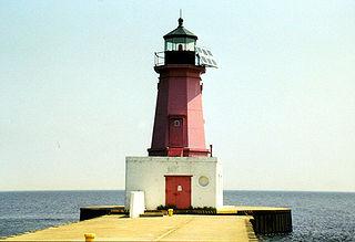 Menominee Pier Light lighthouse in Michigan, United States