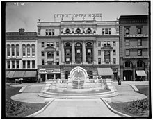 Merrill Fountain in front of old Detroit Opera House