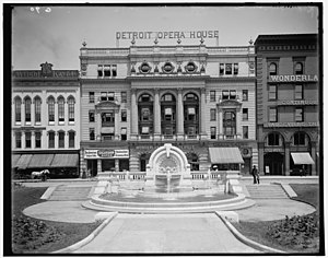 Detroit Opera House - Old Detroit Opera House in 1906