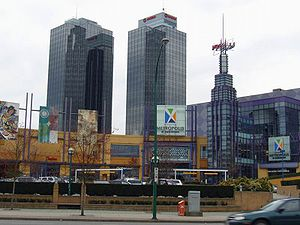 Metrotown, Burnaby - Metropolis at Metrotown and Metrotowers, developed at the site of the former Kelly-Douglas facility