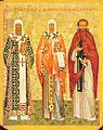 Metropolitan Peter, Leontiy of Rostov, Feodosij Pecherskij.jpg