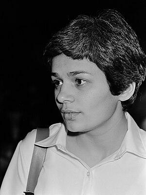 Natan Sharansky - Sharansky's wife Avital at the Sharansky tribunal in Amsterdam, 12 May 1980