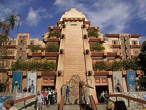 Mexico Pavilion at Epcot - The main building of the Mexico pavilion