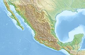 Map showing the location of Cumbres de Monterrey National Park