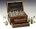 Michael Faradays chemical chest, 19th century. (9660572319).jpg