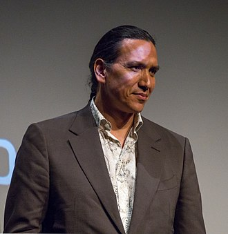 Michael Greyeyes - Greyeyes at the Tribeca Film Festival in 2018 for Woman Walks Ahead