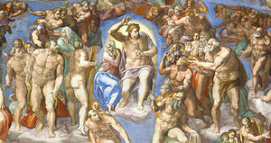 The Last Judgment (Michelangelo) - The central group around Christ
