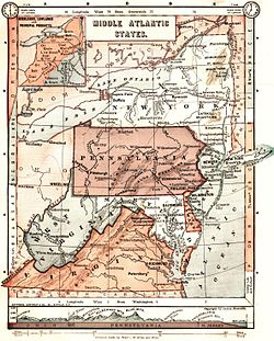 Mid Atlantic States Map.Mid Atlantic United States Wikipedia