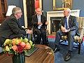 Mike Pence, Eric Holcomb and Greg Abott in VP Office - 2017.jpg