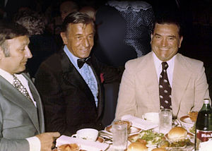 Paul D'Amato - D'Amato (center) with the Chairman of the Committee to Legalize Gaming Mike Segal (left) and Congressman Charles Sandman (right) in 1973.