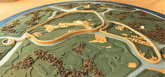 Mikulčice Archaeopark - Mikulčice, hillfort maquette
