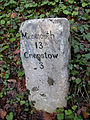 Milestone - 3 Miles to Chepstow on the A466 (close-up) - geograph.org.uk - 204887.jpg