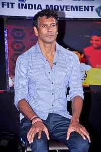 Milind Soman at the NDTV Marks for Sports event 12.jpg