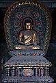 Ming era statue of Amoghasiddhi (不空成就佛 Bùkōngchéngjiùfó), one of the Five Tathagathas (五方佛 Wǔfāngfó) or Five Wisdom Buddhas (五智如来 Wǔzhì Rúlái) at Huayan Temple (華嚴寺 or 华严寺), Shanxi, China.jpg