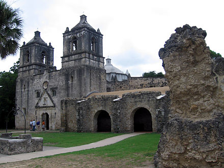 Mission Concepcion is one of the San Antonio missions which is part of a National Historic Landmark. Mission-Concepcion.jpg