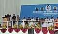 Mohammad Hamid Ansari addressing at the unveiling ceremony of the Statue of Late Ms. Annie Mascrene, in Vazhutacad, Kerala. The Governor of Kerala, Shri Nikhil Kumar, the Chief Minister of Kerala, Shri Oommen Chandy.jpg