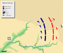 map detailing the respective troop deployment before the battle.