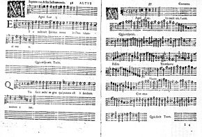 Page of printed music for a single alto part and the accompanying instruments
