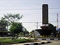Monumen, berkaligrafi doa perjalanan, di lingkungan Bandar Udara Sultan Iskandar Muda, Banda Aceh; 2011.jpg