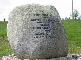 Monument in Glen Fruin marking site of clan battle - geograph.org.uk - 47901.jpg