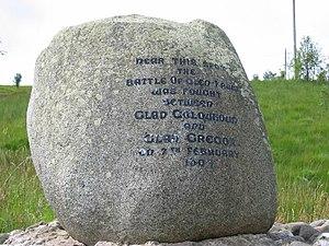 Battle of Glen Fruin - Image: Monument in Glen Fruin marking site of clan battle geograph.org.uk 47901