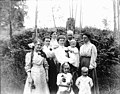 Moon family group portrait in front of ferns, Seattle, Washington, ca 1910 (SEATTLE 2796).jpg