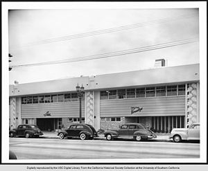 Rudi Gernreich - Morris Nagel Versatogs and Adele California were well-known clothing design houses in Southern California. The two companies occupied adjoining buildings in 1948 at 2615 - 2609 South Hill Street in Los Angeles.