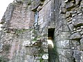 Morton Castle, Thornhill, Dumfries and Galloway, Scotland - east facing fortifications detail.jpg