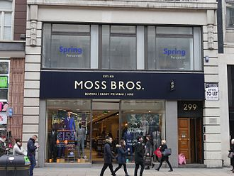 Moss Bros Group - Moss Bros, Oxford Street, London, 2016