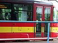 Most, nádraží, tram 314 - Vario LF přední část.jpg