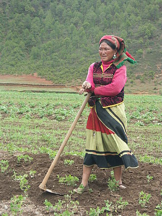 Mosuo women - A Yi woman near Lugu Lake.