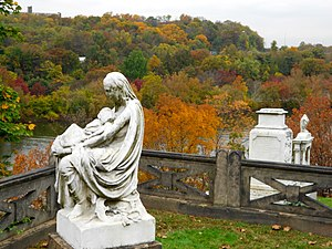 Laurel Hill Cemetery - Mother and Twins Monument